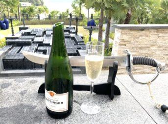 セントレジスランカウイ Champagne Sabering