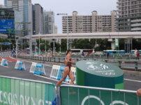 東京オリンピック女子トライアスロン お台場ラン折り返し地点 Tokyo Olympic Women's Triathlon