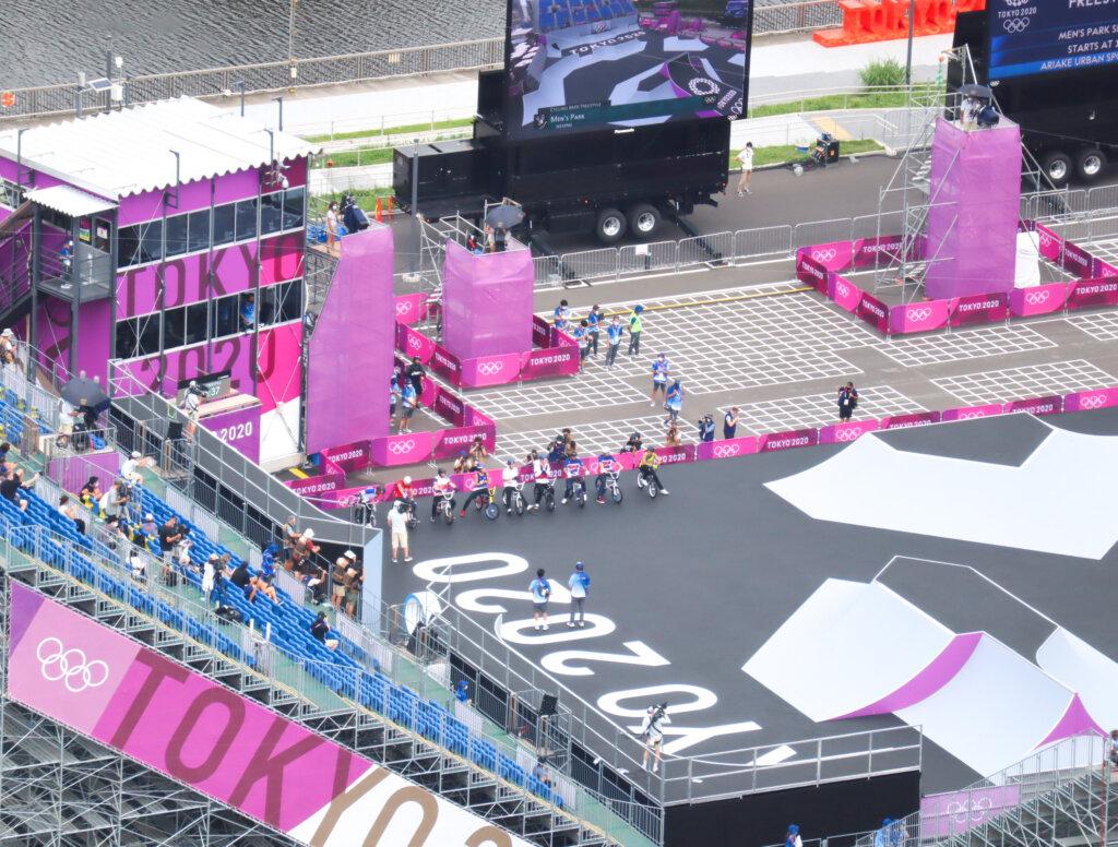 東京オリンピックBMXフリースタイル男子パークシーディングラン写真