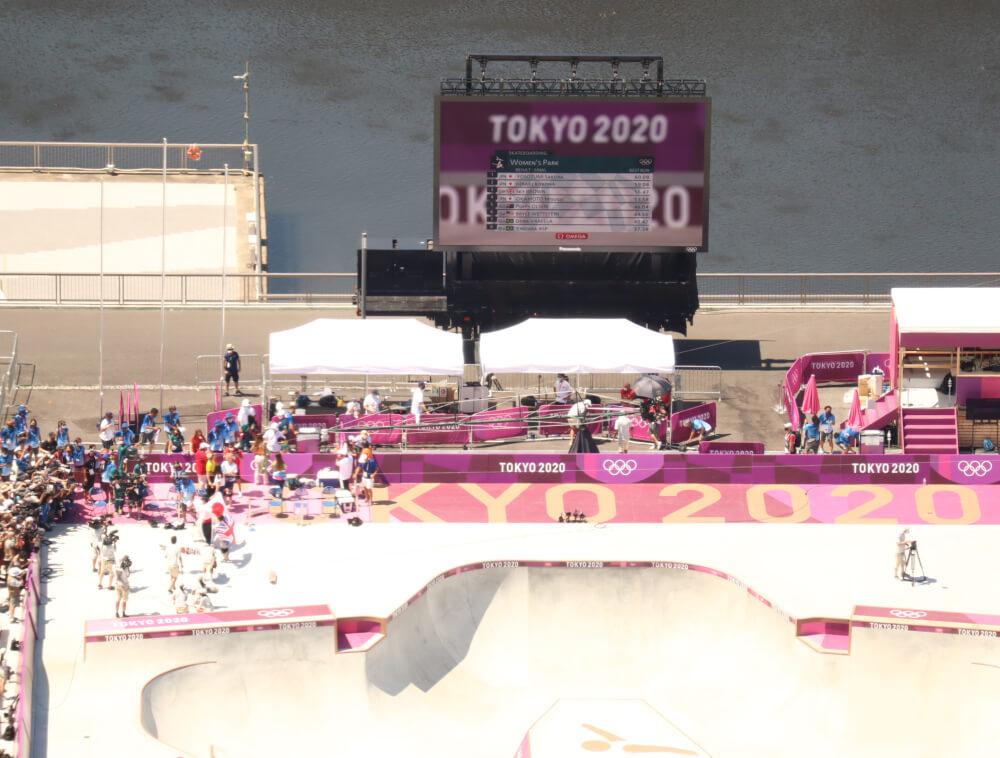 東京オリンピックスケートボード女子パーク決勝&表彰式 Tokyo Olympic Skateboarding Women's Park Final & Winning Ceremony